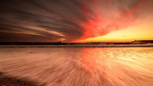 sunset sea england seascape water alan landscape nikon harbour sigma skys sunderland roker dingwall
