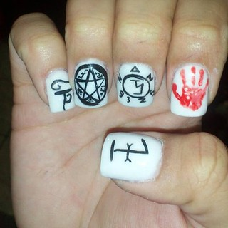 My new nails! Supernatural Nails! Now I'm Protected! #prot