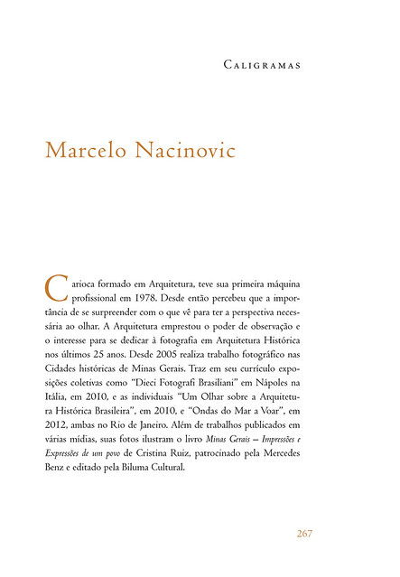 Academia Brasileira de Letras - Revista Brasileira 75 - CALIGRAMAS - Marcelo Nacinovic