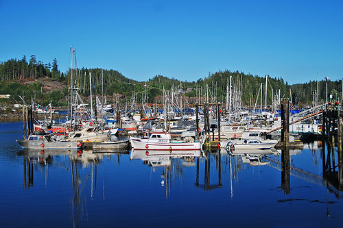Waterfront at Port Hardy, North Vancouver Island, British Columbia, Canada