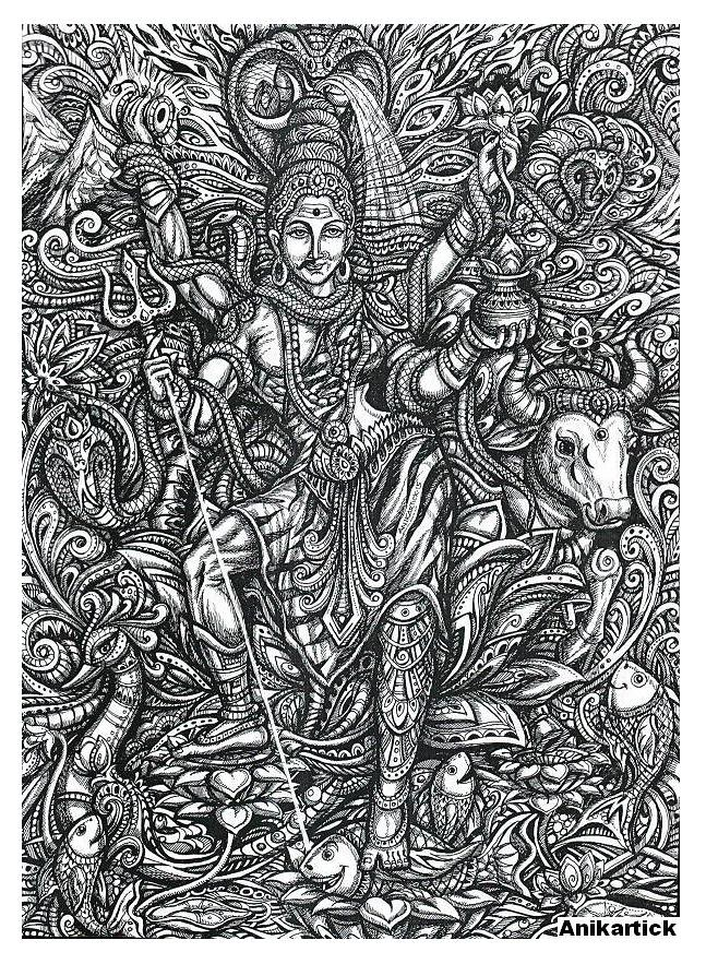 LORD SHIVA / ART / DRAWING / CONCEPT / CREATIVE ART / Anik