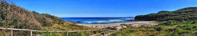 Pretty beach panorama
