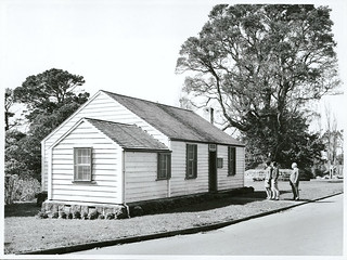 """Auckland's oldest wooden cottage, built in 1843 by the """"Father of Auckland"""", Sir John Logan Campbell, is situated in Cornwall Park, opposite the kiosk."""