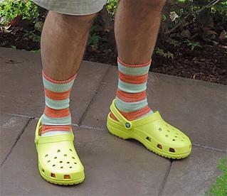Frank's socks and crocs