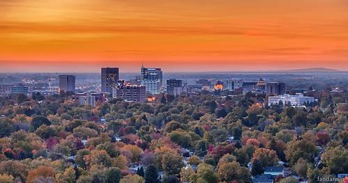blue sunset orange fall skyline fan downtown darwin panasonic idaho boise foothill 1445 gf1 fandarwin