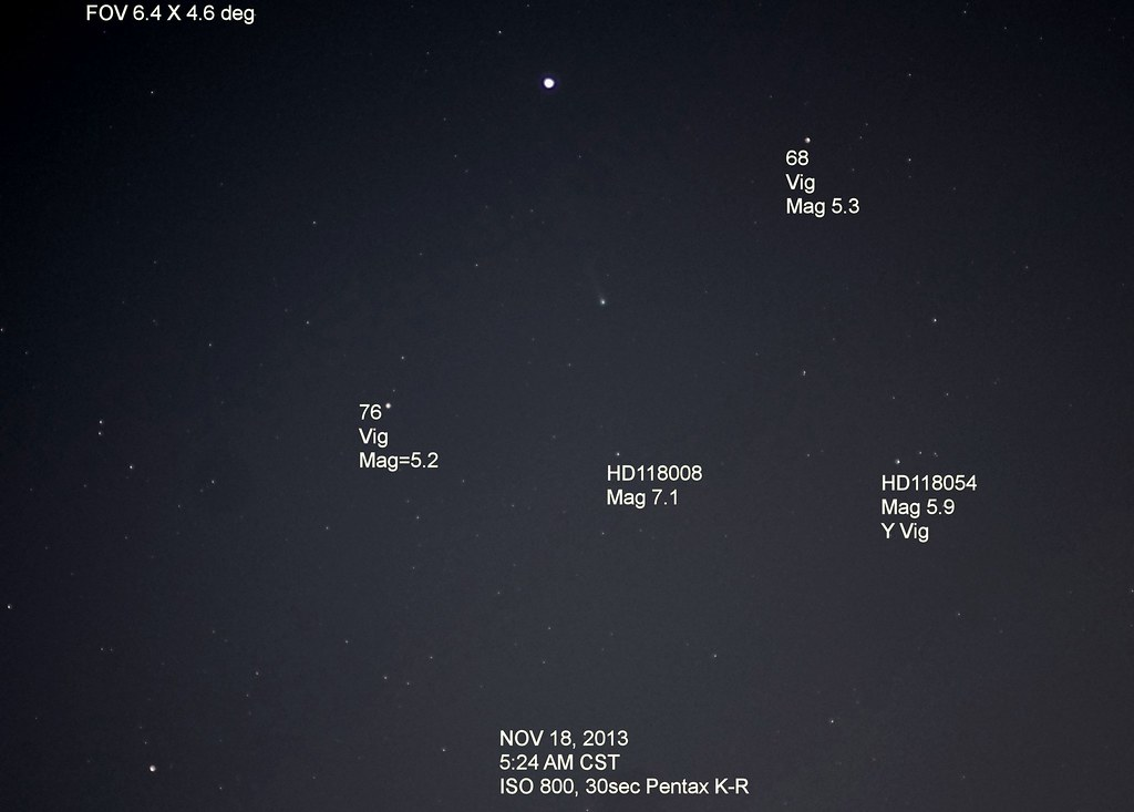 Comet ISON Morning of Nov 18, 2013 | Spica is the bright sta… | Flickr