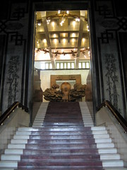 Main staircase inside the Ho-Chi Minh museum
