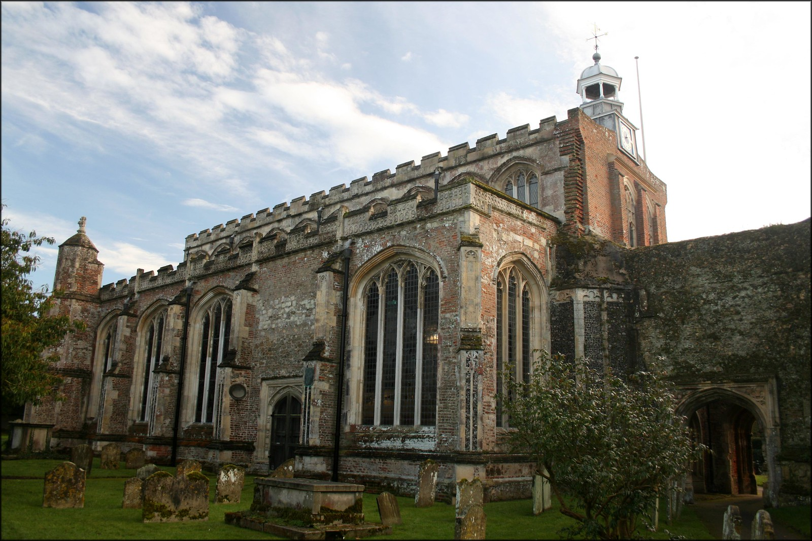 The bell cage at East Bergholt Church