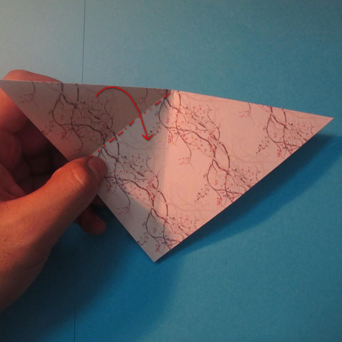 วิธีการพับกระดาษเป็นดาวสี่แฉก 003