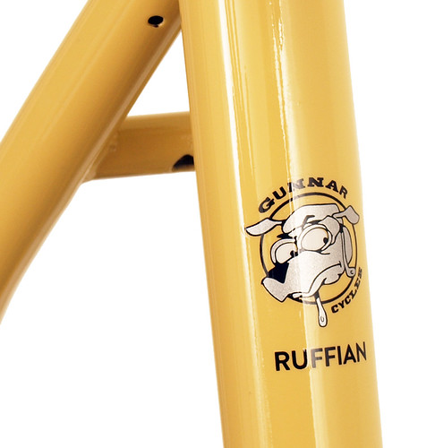 <p>Seat tube on Gunnar Ruffian Single Speed with Paragon Slider dropouts finished in Bamboo with Black Bullseye Decals.  65780</p>