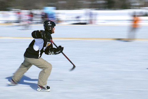 Pond Hockey - X100S panning practice (using built-in ND filter). | by Jamie McCaffrey