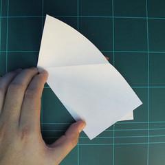 วิธีการพับกระดาษเป็นรูปกบ (แบบโคลัมเบี้ยน) (Origami Frog) 011