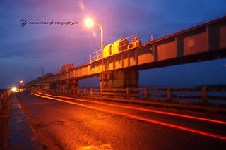 Traffic rays at dowleswaram barrage | by Akbar - Web Designer and Freelance Photographer