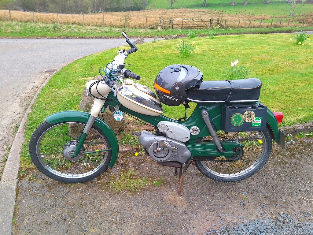 1973 Puch MS50D | 35 fellow riders took part in the VMCC Gla