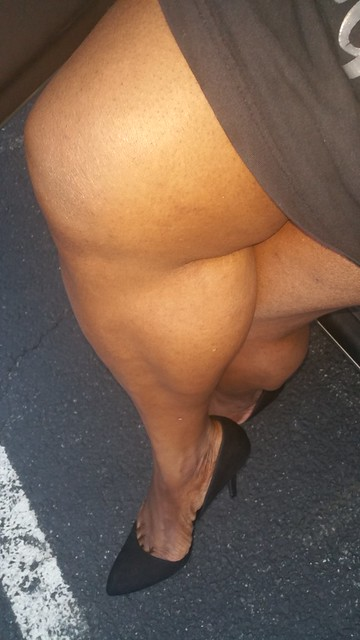 At work showing my beautiful thick legs wearing my short dress have a great day everybody