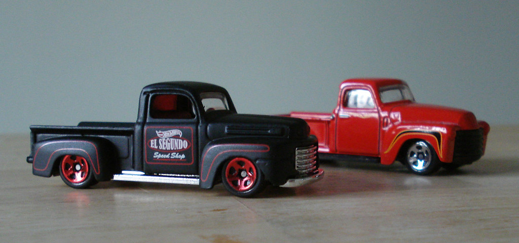 Hot Wheels 1941 Ford F1 & '52 Chevy Pickups. | Just can't ...