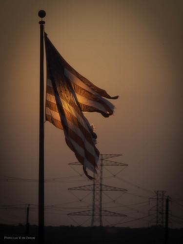 sunrise texas unitedstates houston americanflag torn starsandstripes tornamericanflag