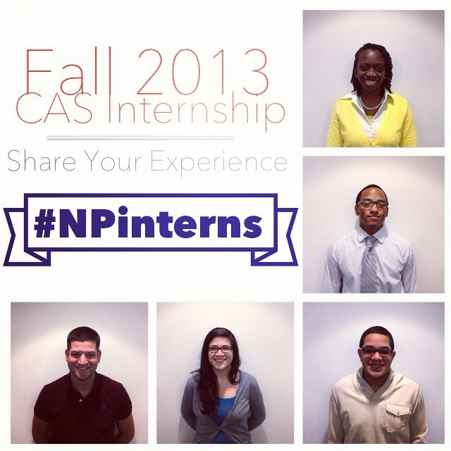 Fall 2013 CAS Internships! These students gained valuable