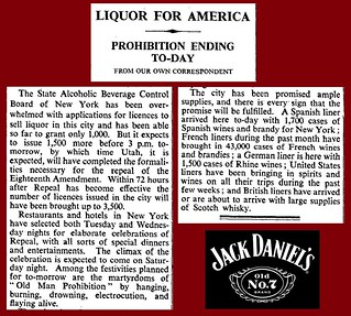 5th December 1933 - End of prohibition in the USA | by Bradford Timeline