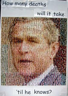 Anti-Bush protest poster