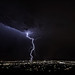 Lightning strike in Albuquerque - August 2012 by Mitch Tillison Photography