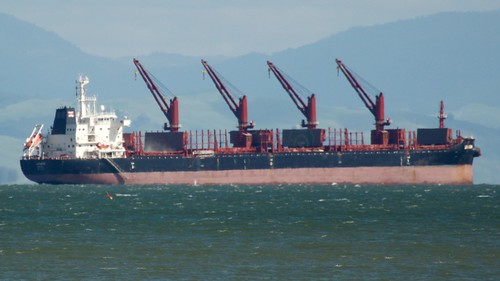 "Handysize Bulker ""?"" in ""General Anchorage No. 9"" NOAA chart 18650 San Francisco Bay Port of Oakland DSC_0095 