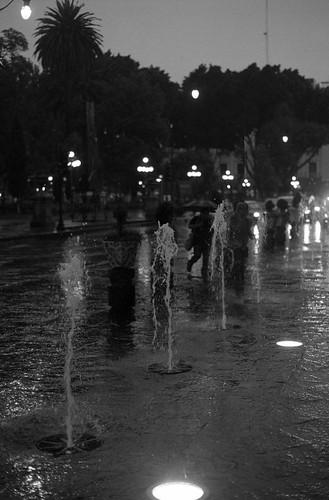 Zócalo, tarde lluviosa