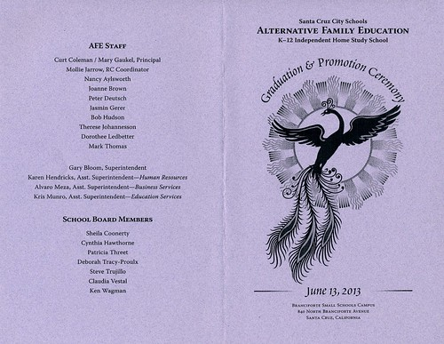 The outside of the 2013 AFE Graduation program | by Tané Tachyon