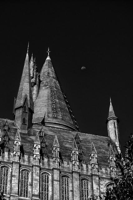 Morning Moon Over Hogwarts