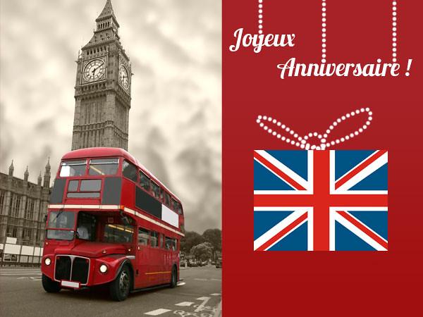 Carte Anniversaire Londres.Carte Anniversaire London Bus Souhaitez Un Joyeux Annivers