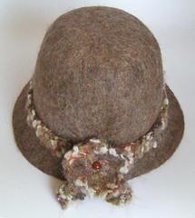 light brown felt hat