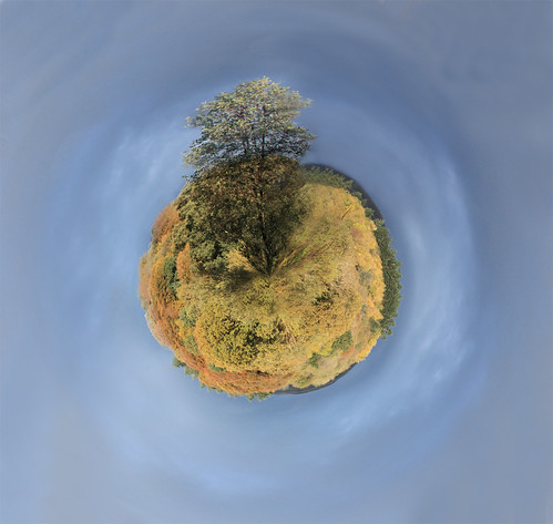 Tiny planet in autumn | by Helen in Wales