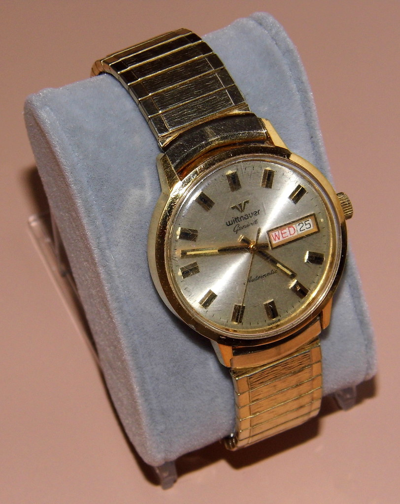Wittnauer Watch Value >> Vintage Wittnauer Geneve Automatic Wrist Watch Swiss Ma Flickr