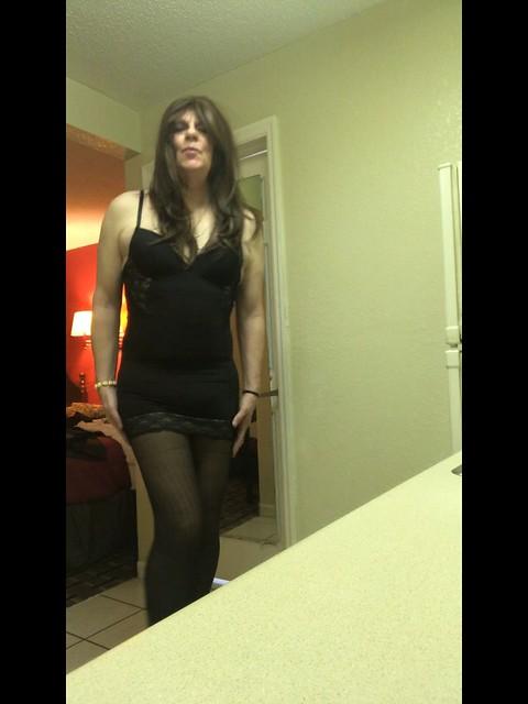 A rare lingerie photo!