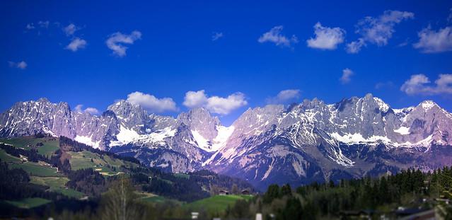 Panorama view to the Kaisergebirge - Gundhabing - Austria