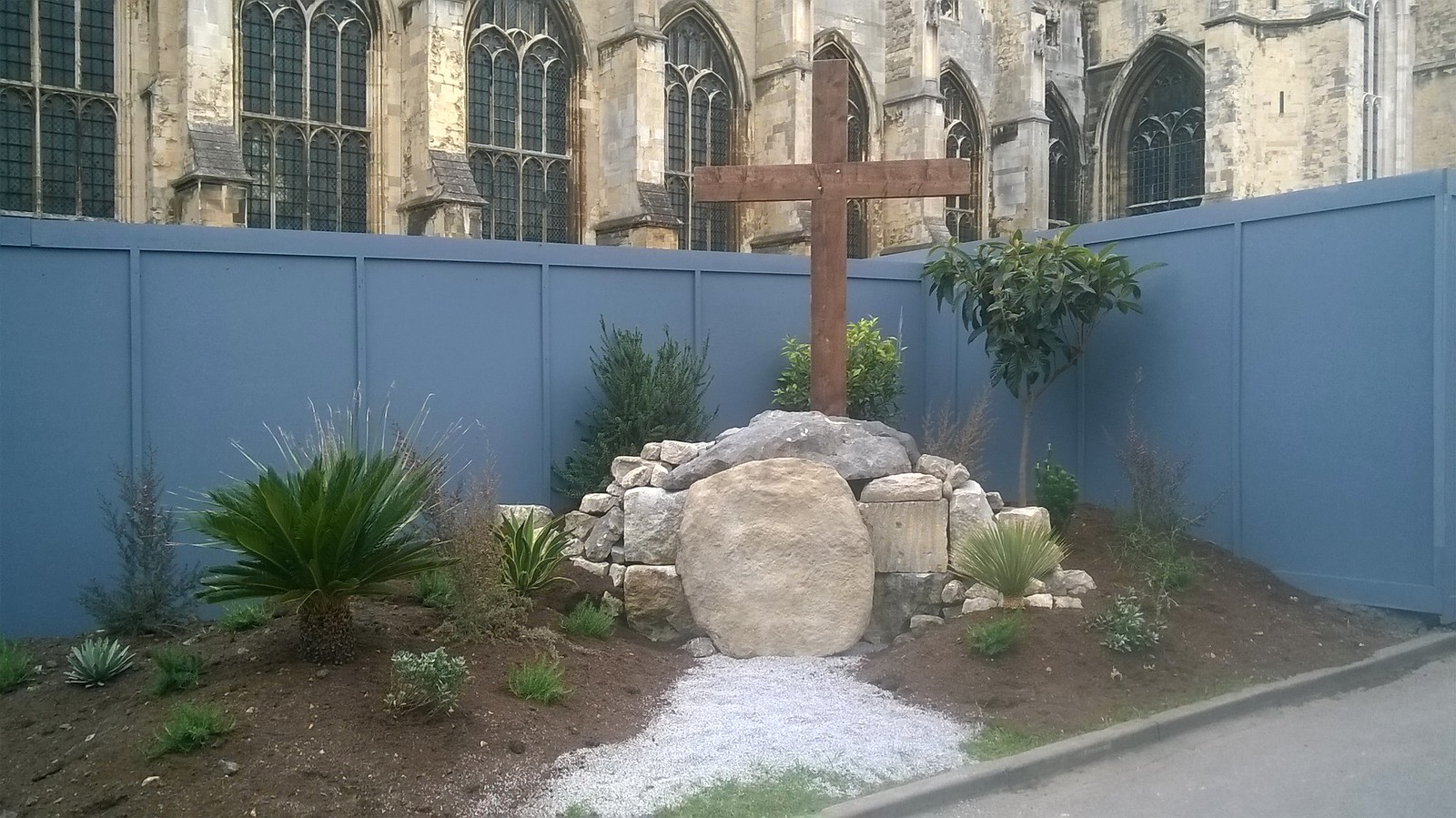 Easter garden Canterbury Cathedral