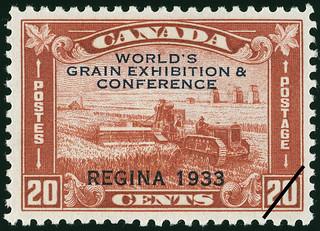 Postage stamp: World's Grain Exhibition & Conference, Regina, 1933. Canada, 20 cents / Timbre-poste : World's Grain Exhibition & Conference (Exposition & Conférence mondiale sur les céréales), Regina, 1933. Canada 20 cents