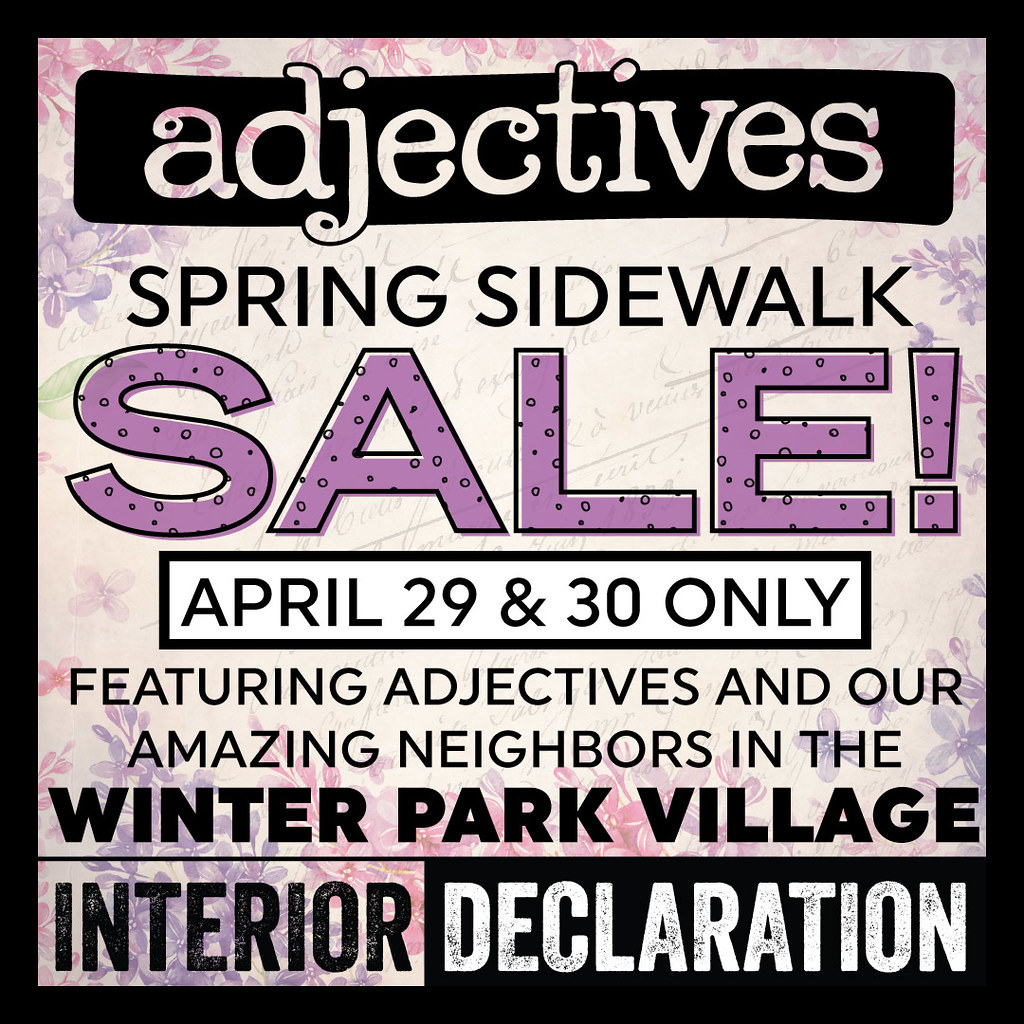 Winter Park Village Sidewalk SALE!