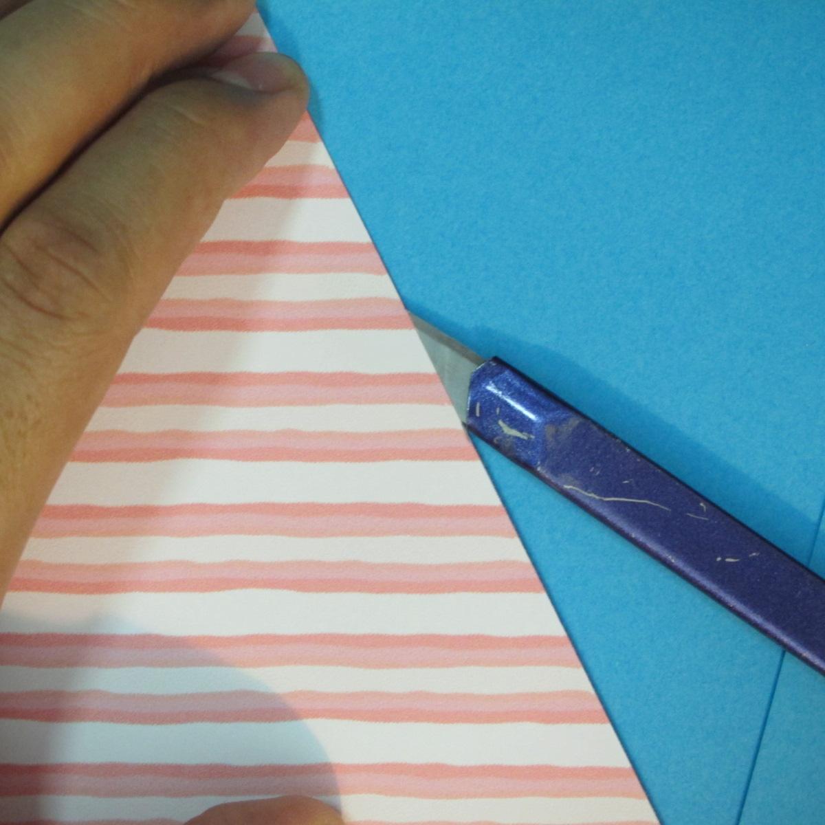 วิธีพับกล่องกระดาษรูปหัวใจส่วนฐานกล่อง 003