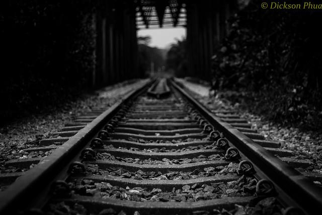 Preserved railway track