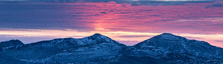pink skies Be More and Stob Binnein | by Scotland's Mountains