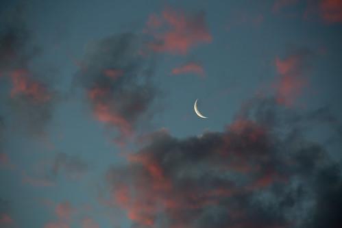 moon sunset mtwellington sky clouds hobart tasmania
