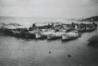 Miinanraivaukseen osallistuneita veneitä syksyllä 1944