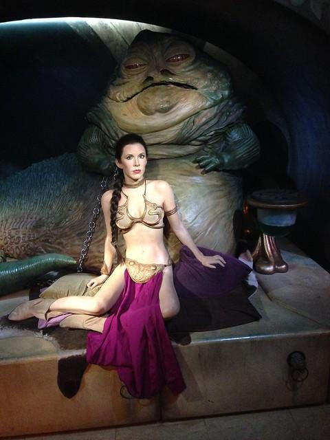 Carrie Fisher aka Princess Leia figure at Madame Tussauds London