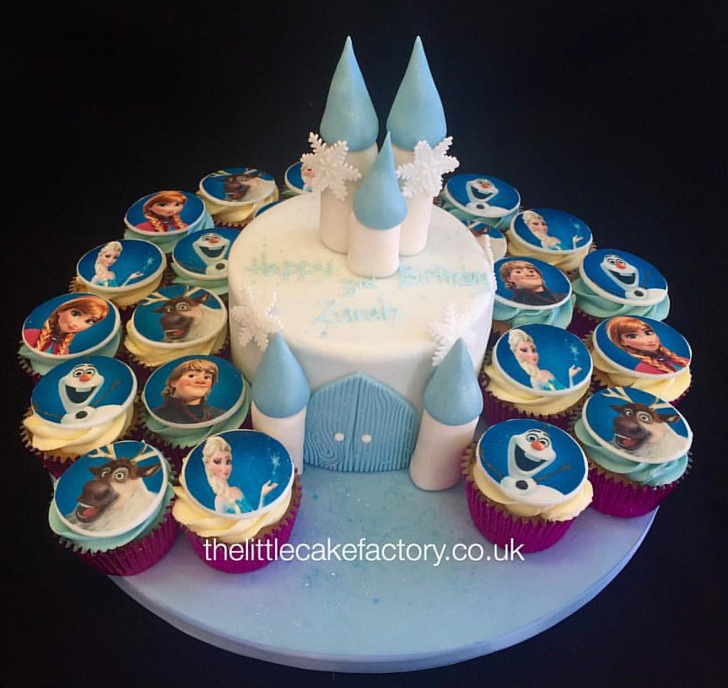 Frozen Cupcake Castle Set Thelittlecakefactorycouk Disneyfrozen Children Disney Princess Cupcakes Cake Snowflake Olaf Birthday