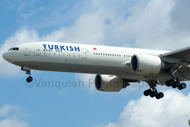 VT-JED Turkish Airlines B777-300 London Heathrow Airport