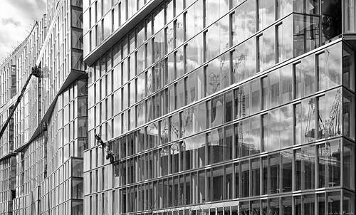 Battersea power station reflection London
