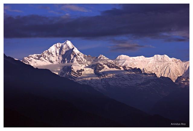 Forked peak and Kabru IV,Manul,Sikkim