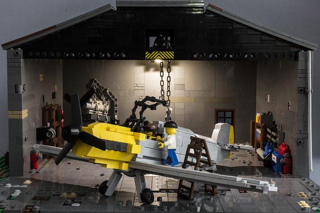 Hangar #2 with BF109