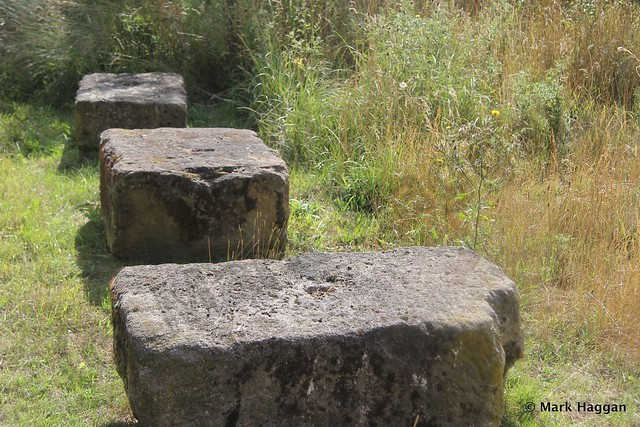 Stones formerly from London's Waterloo Bridge in Harmondsworth Moor